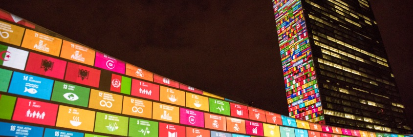 SDG Projections: Massive scale projections and  peoples' voices to celebrate UN70 and visually depict the 17 Global Goals